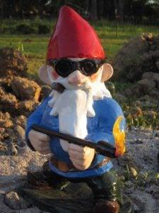 Flame Thrower Garden Gnome