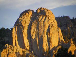 Twin Owls rock formation Estes Park Colorado