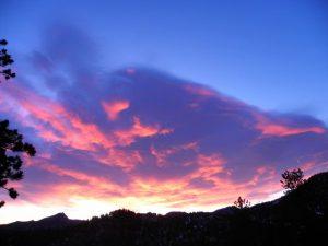 Sunrise in Estes Park, Colorado