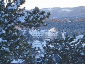 STANLEY HOTEL THE FIRST DAY OF SPRING IN ESTES PARK COLORADO