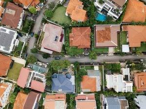Satellite image of housing community