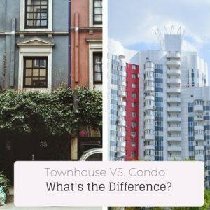 townhouse vs condo