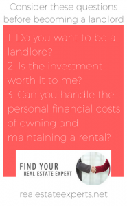renting your home out