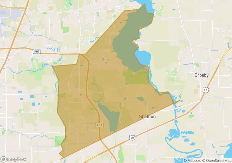 77044 houston Texas Map
