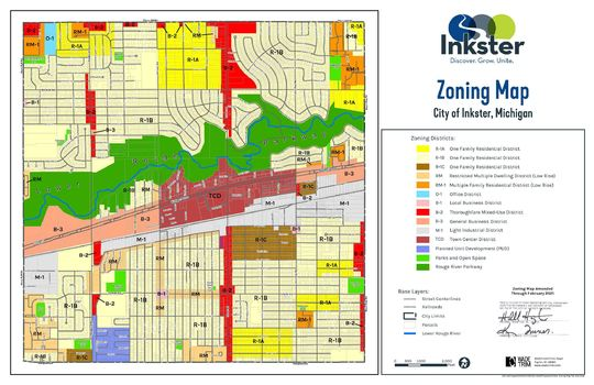 Inkster Zoning Map