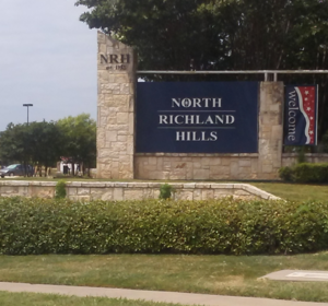 North Richland Hills Stone sign