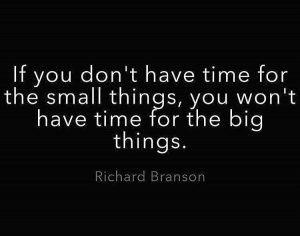 Time for the small things
