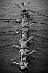 Row boat team