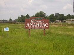 "Anahuac ""Welcome"" Sign"