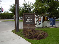 Picture of Hedwig Village sign