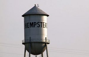 Close up of Hempstead Water Tower