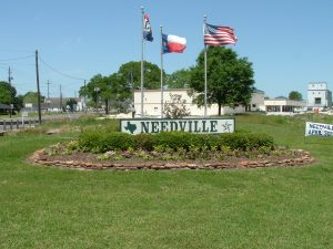 Picture of Needville Stone Wall and Flags