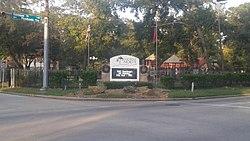 Welcome Oak Ridge North Sign