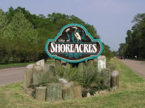 Picture of Welcome sign of Shoreacres Texas Entrance