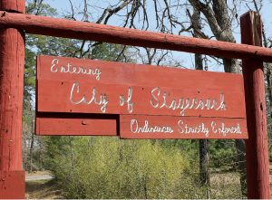 Picture of the Welcome Sign into Stagecoach Texas