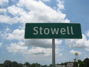 Picture of Stowell Texas State sign
