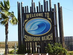 Picture of Welcome Sign in Surfside beach Texas