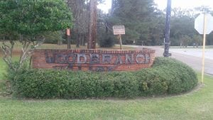 Picture of Woodbranch Village Welcome sign