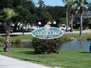 Picture of Clear Lake Texas welcome sign