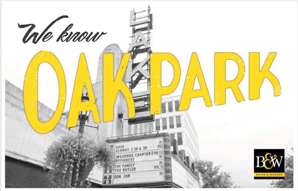 BW Oak Park Postcard