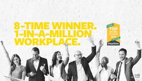 8-time Top Workplace Winner. 1-in-a-million Workplace.
