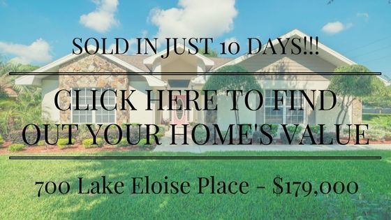 JUST SOLD – 700 LAKE ELOISE PLACE – WINTER HAVEN, FL