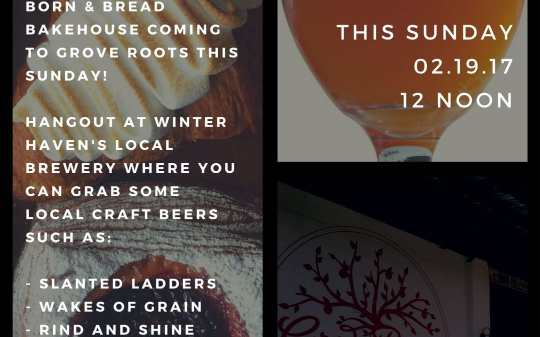 Born & Bread Coming to Grove Roots – Sunday – 2/19/17