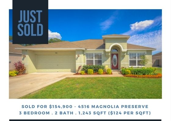 JUST SOLD: Magnolia Preserve – Winter Haven