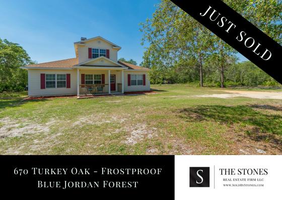JUST SOLD: Blue Jordan Forest in Frostproof Florida