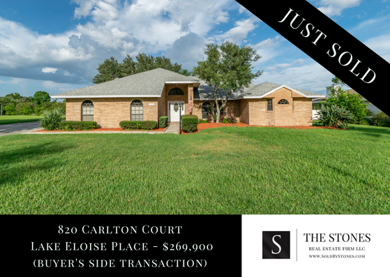 JUST SOLD: 820 Carlton Court, Winter Haven, FL 33884