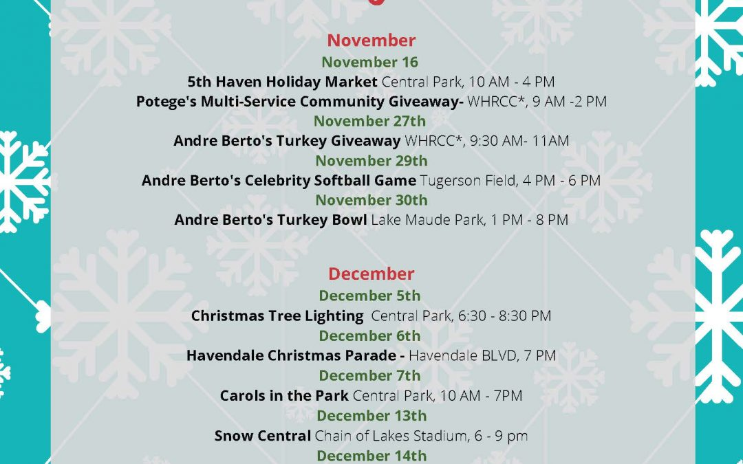 City of Winter Haven Holiday Schedule 2019