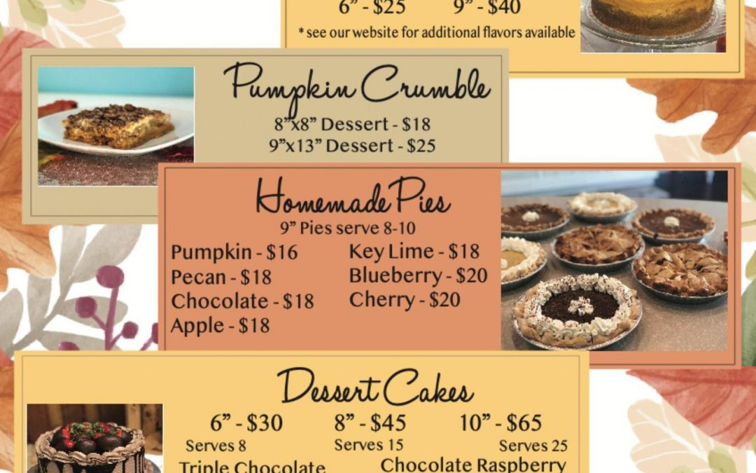 Thanksgiving Day Desserts in Winter Haven
