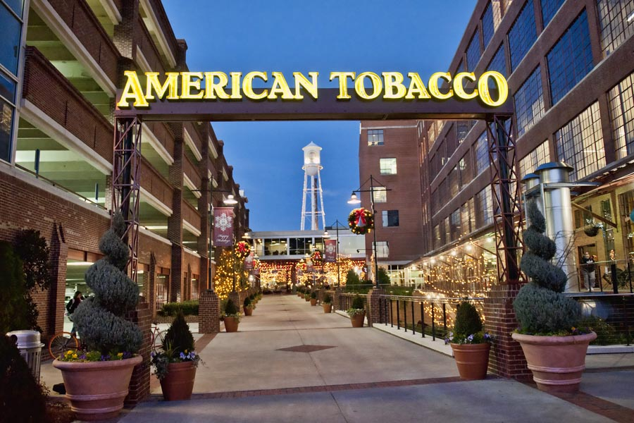 American Tobacco District in Durham NC