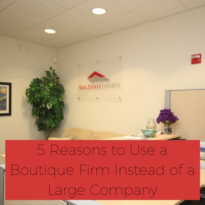 5 Reasons to Use a Boutique Firm Instead of a Large Company