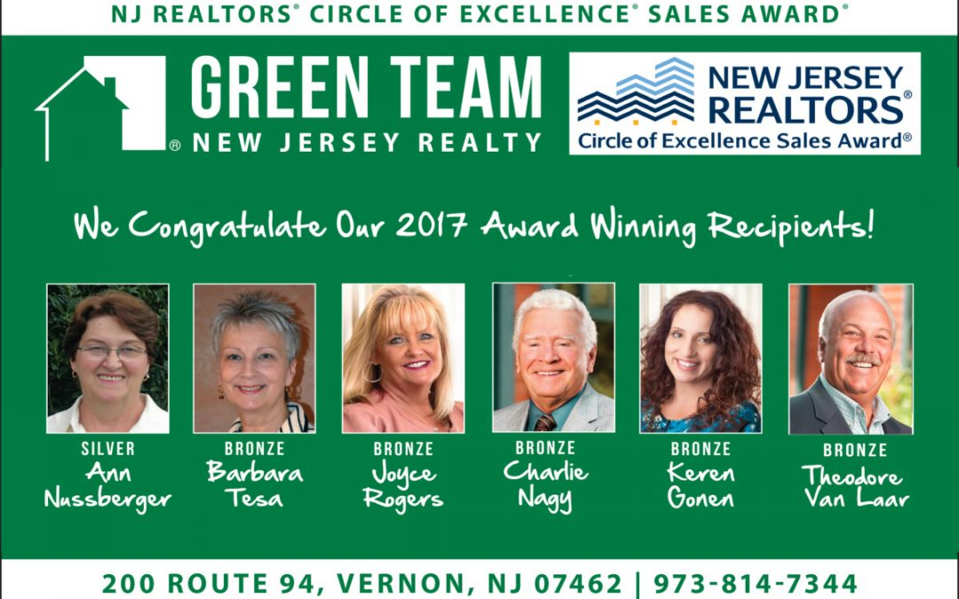 Green Team New Jersey Realty Agents Recognized for Achievements and Excellence in Sales