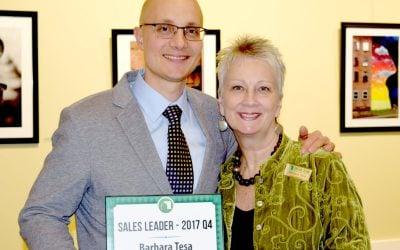 Barbara Tesa wins Fourth Quarter Sales Award