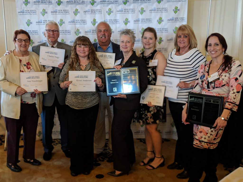 Green Team New Jersey Realty's 2018 Circle of Excellence Award Recipients