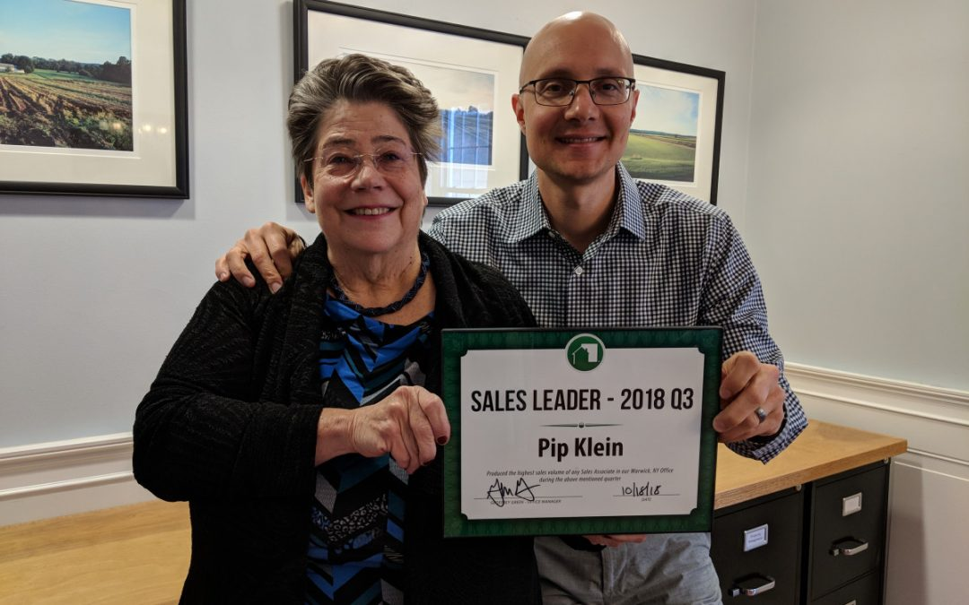Pip Klein 3rd Quarter Sales Leader