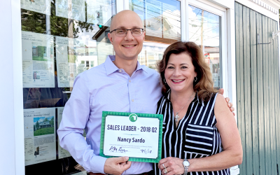 Nancy Sardo, First and Second Quarter Sales Leader Award Winner