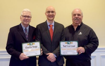 Charles Nagy and Theodore Van Laar – 4th Quarter and Yearly Sales Leaders for Green Team New Jersey Realty
