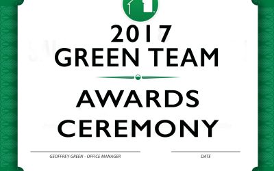 Green Team Awards Ceremony for 2017