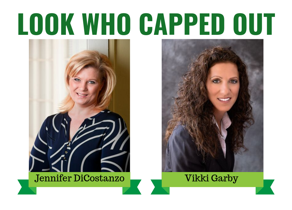 Congrats to Jen DiCostanzo and Vikki Garby for reaching the cap!