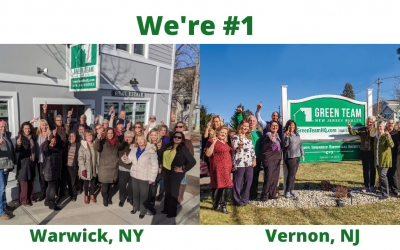 Green Team Realty #1 in Warwick and Vernon for 2019!