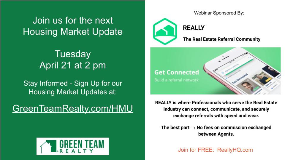 Green Team Realty March 2020 Housing Market Update