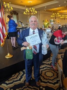 Ted Van Laar,Green Team New Jersey Realty, receiving Circle of Excellence Award