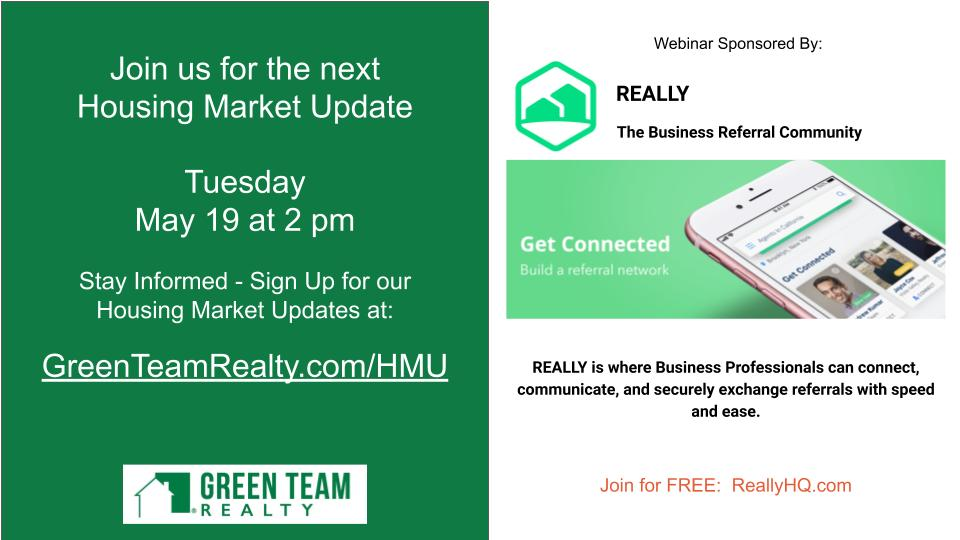 Green Team Realty Housing Market Update