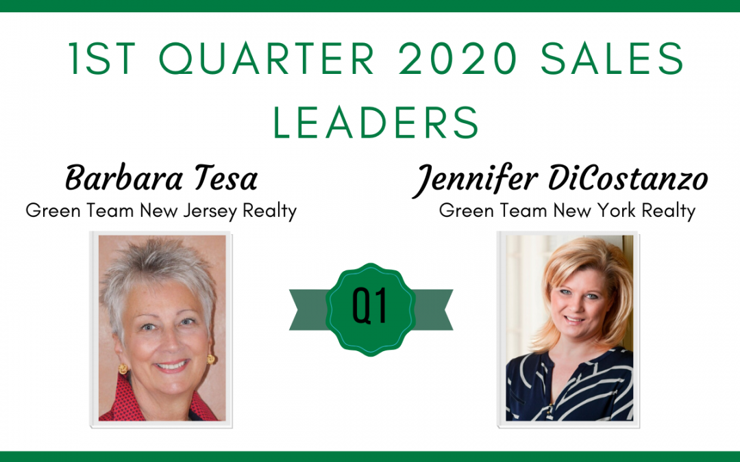 1st Quarter 2020 Sales Leaders