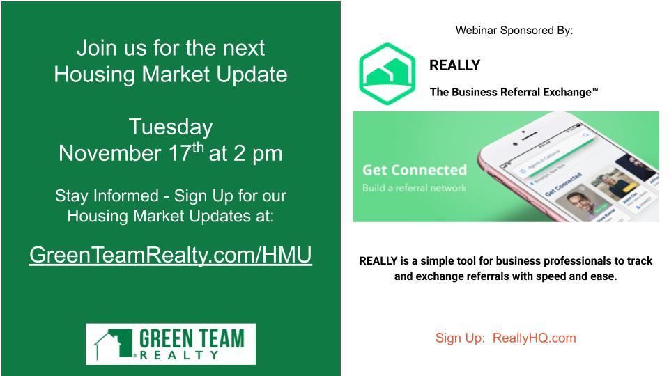 Green Team Realty Oct 2020 Housing Market Update