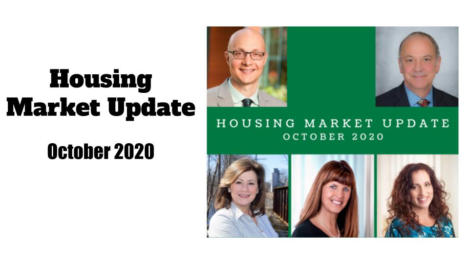 October 2020 Housing Market Update