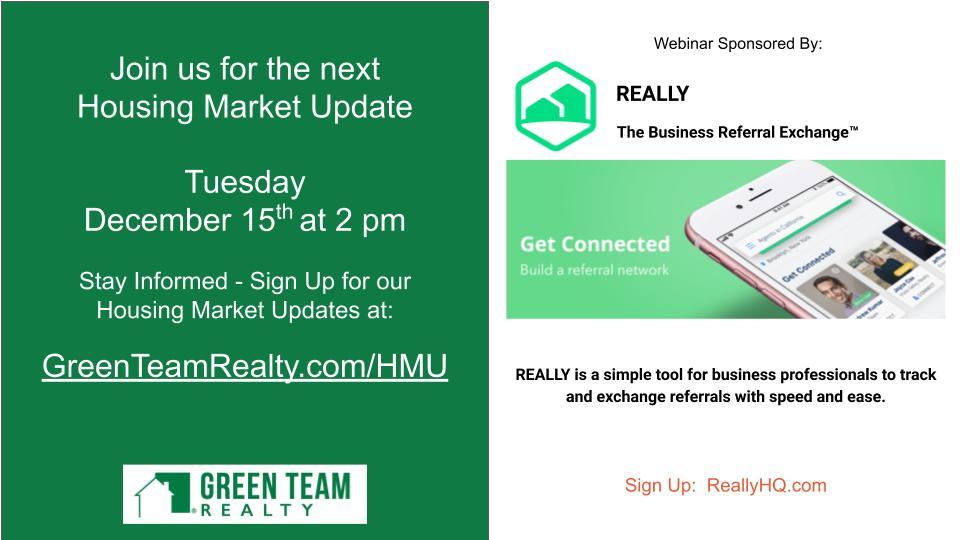 Green Team Realty Housing Market Update Nov 2020
